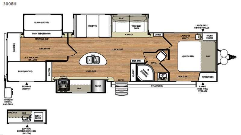 Floorplan - 2017 Forest River RV Salem Hemisphere Lite 300BH