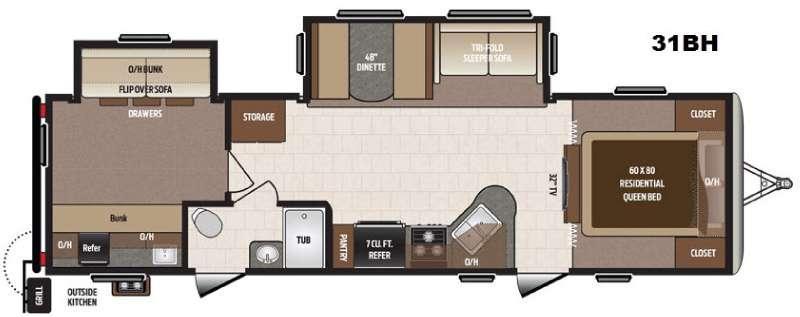 Sprinter Campfire Edition 31BH Floorplan Image