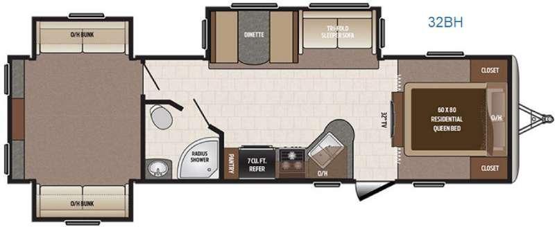 Sprinter Campfire Edition 32BH Floorplan Image