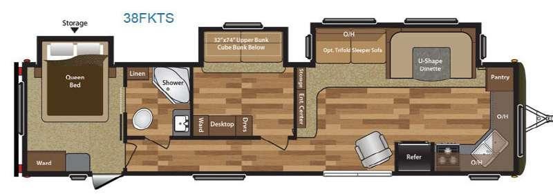 Hideout 38FKTS Floorplan Image