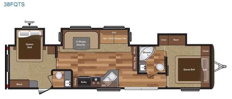 Hideout 38FQTS Floorplan Image