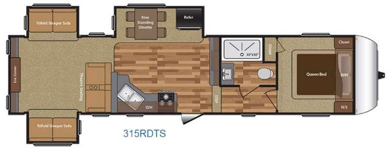 Hideout 315RDTS Floorplan Image