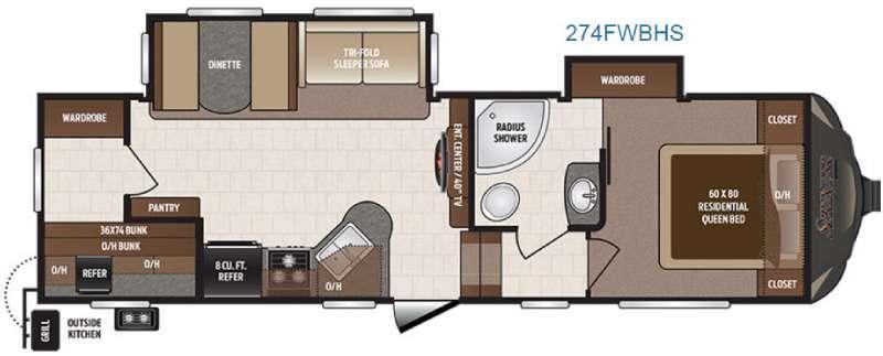 Sprinter 274FWBHS Floorplan Image