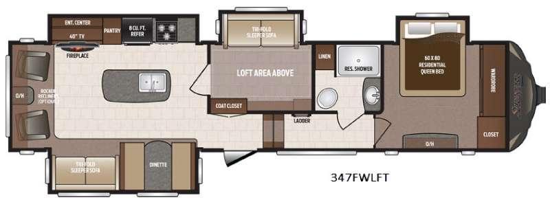 Sprinter 347FWLFT Floorplan Image