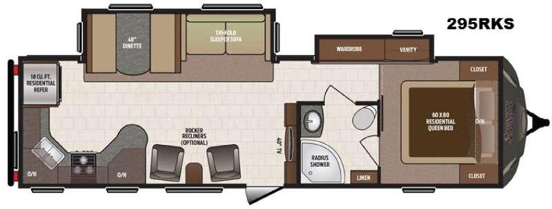 Floorplan - 2017 Keystone RV Sprinter 295RKS