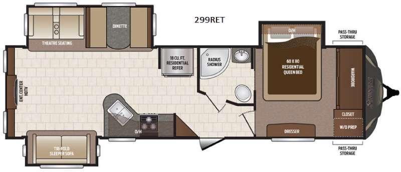 Sprinter 299RET Floorplan Image