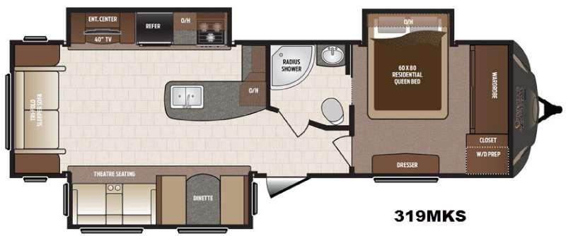 Floorplan - 2017 Keystone RV Sprinter 319MKS