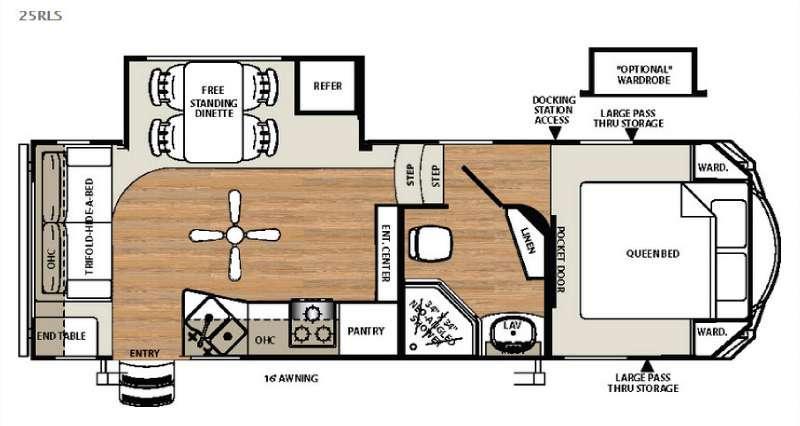 Sandpiper Select 25RLS Floorplan Image
