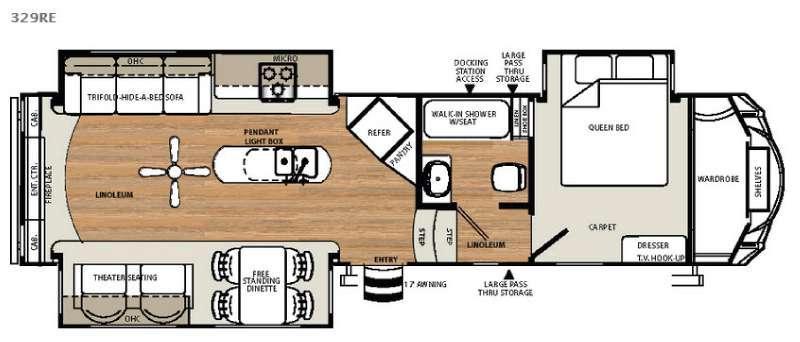 Sandpiper Select 329RE Floorplan Image
