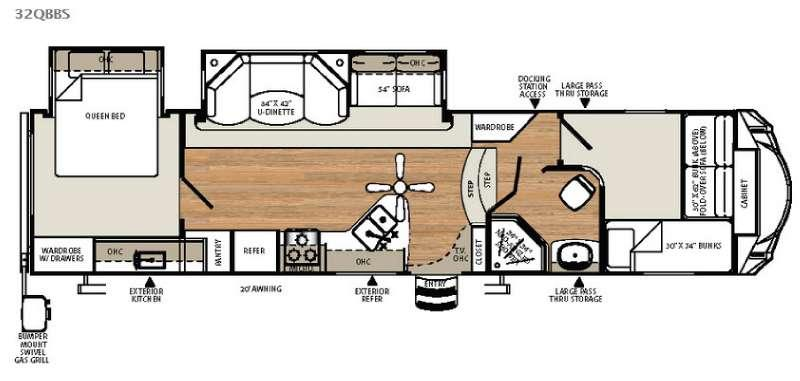 Sandpiper Select 32QBBS Floorplan Image