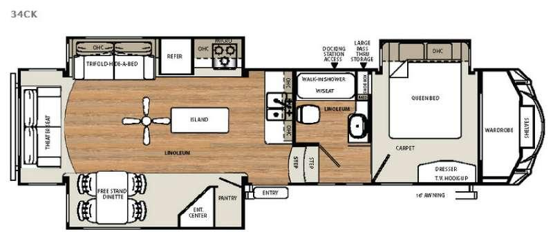 Sandpiper Select 34CK Floorplan Image