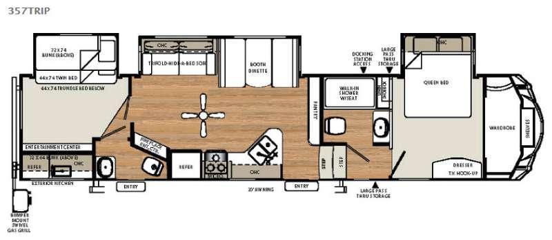 Sandpiper Select 357TRIP Floorplan Image
