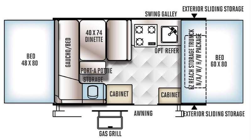 Rockwood Extreme Sports 1910ESP Floorplan Image
