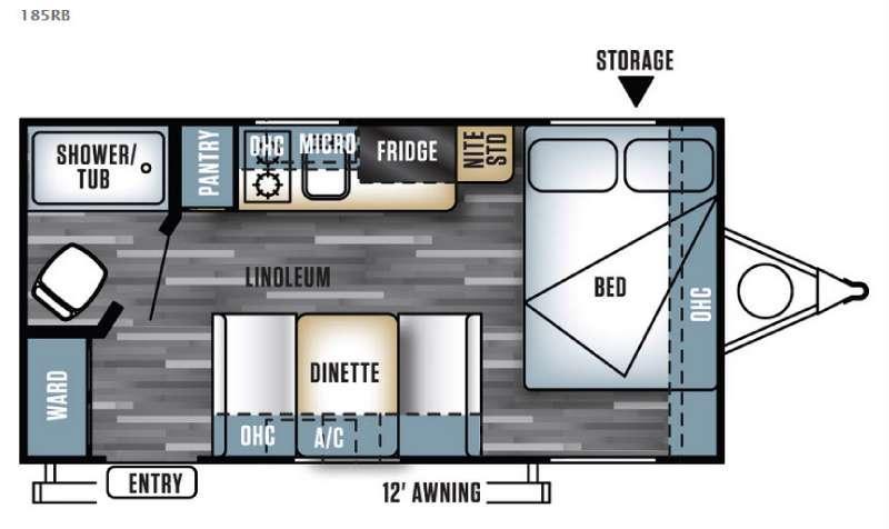 Salem Cruise Lite FS 185RB Floorplan Image