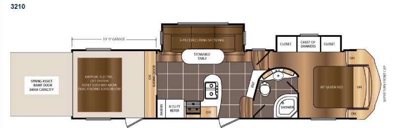 Floorplan - 2017 Prime Time RV Spartan 300 Series 3210