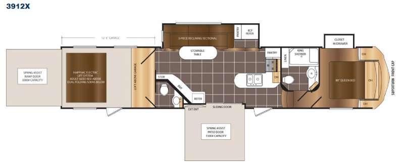 Spartan 300 Series 3912X Floorplan Image