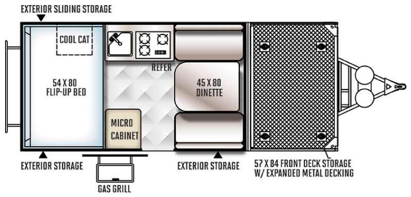 Rockwood Hard Side Series A122TH Floorplan Image