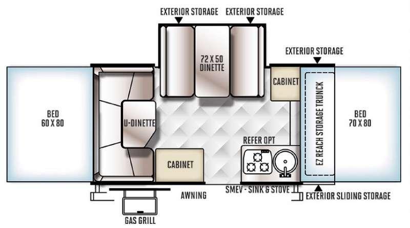 Rockwood Premier 2317G Floorplan Image
