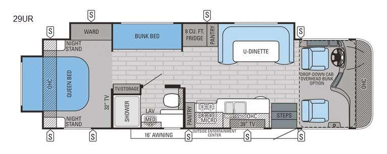 Precept 29UR Floorplan Image