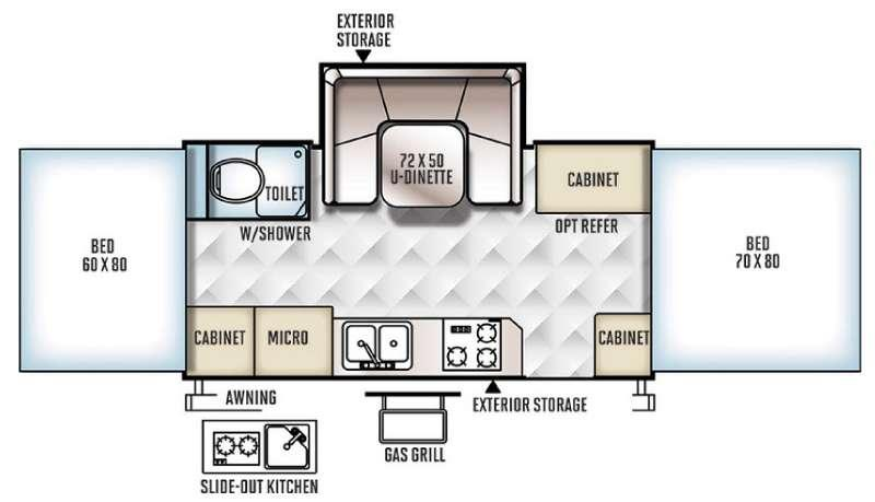 Floorplan - 2017 Forest River RV Rockwood High Wall Series HW277