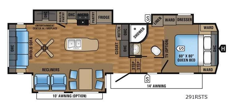 Eagle 291RSTS Floorplan Image