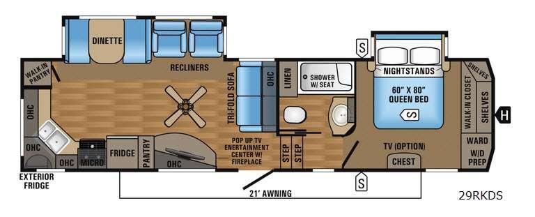 Eagle 293RKDS Floorplan Image