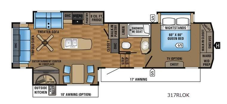 Floorplan - 2017 Jayco Eagle 317RLOK