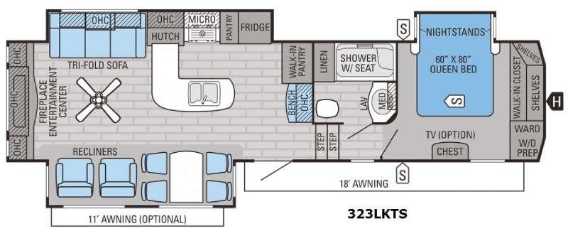 Eagle 323LKTS Floorplan Image