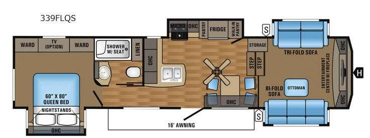 Eagle 339FLQS Floorplan Image