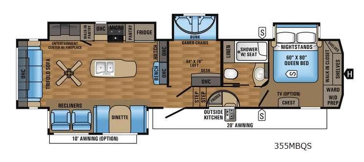 Eagle 355MBQS Floorplan Image
