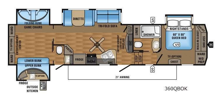 Eagle 360QBOK Floorplan Image