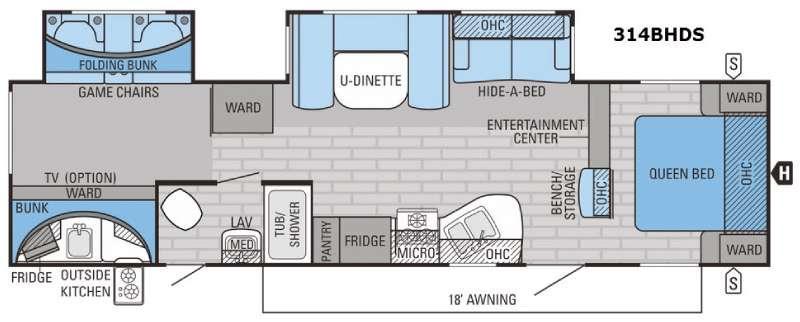 Eagle 314BHDS Floorplan Image