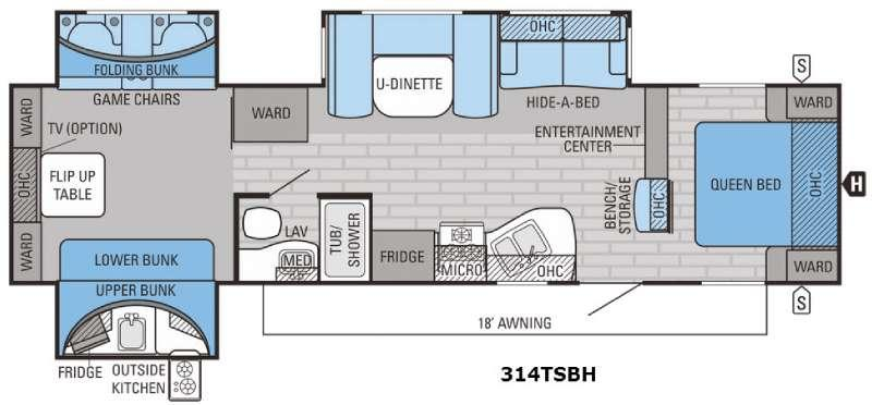 Eagle 314TSBH Floorplan Image