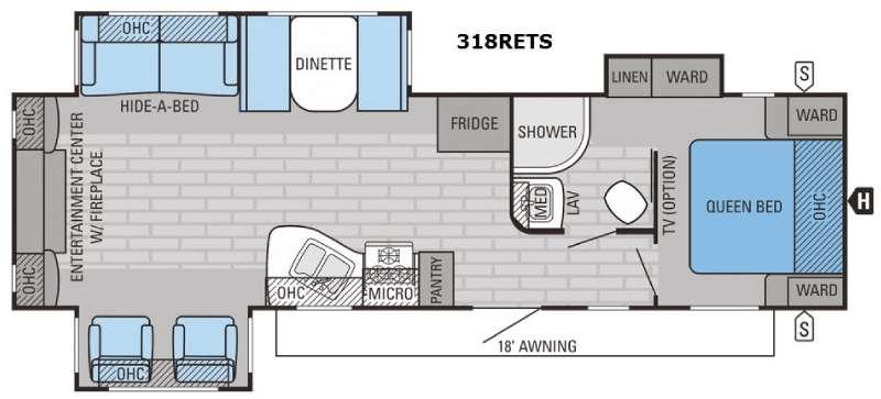 Eagle 318RETS Floorplan Image