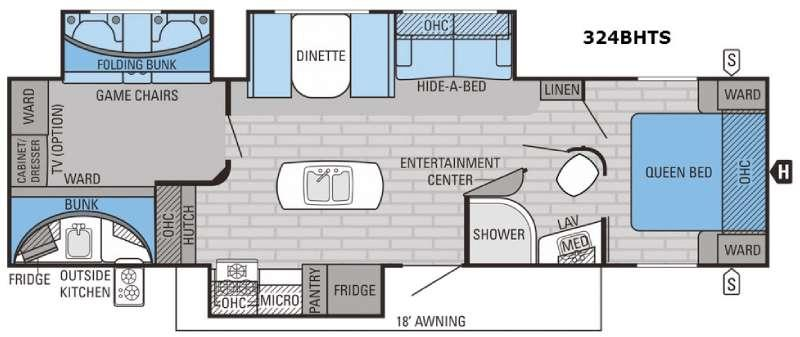Eagle 324BHTS Floorplan Image