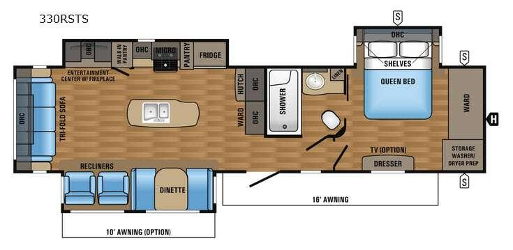 Floorplan - 2017 Jayco Eagle 330RSTS