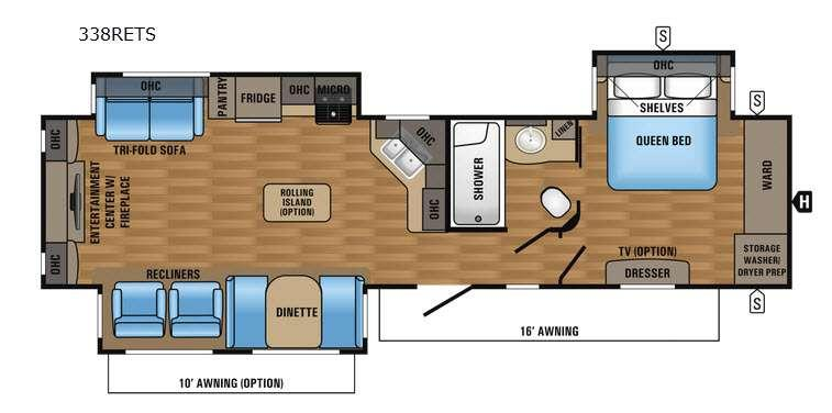 Floorplan - 2017 Jayco Eagle 338RETS