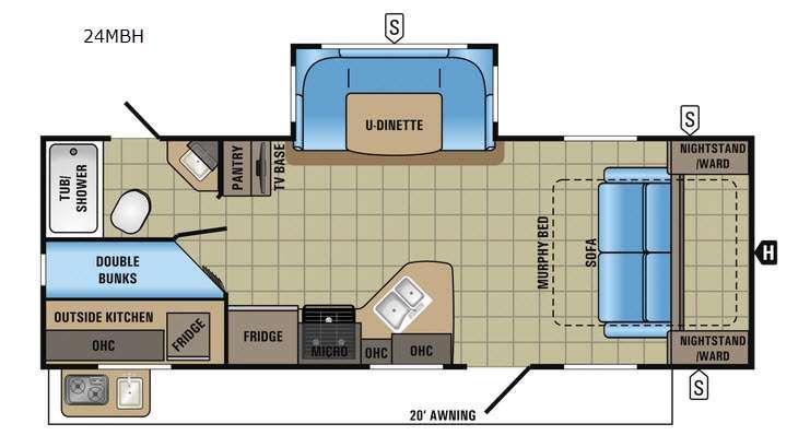White Hawk 24MBH Floorplan Image