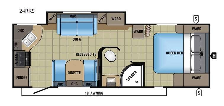 Floorplan - 2017 Jayco White Hawk 24RKS