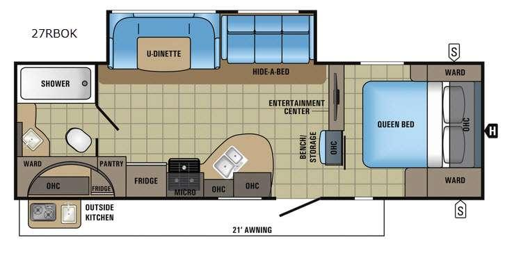 White Hawk 27RBOK Floorplan Image