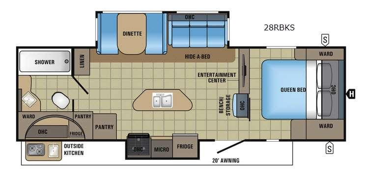 White Hawk 28RBKS Floorplan Image