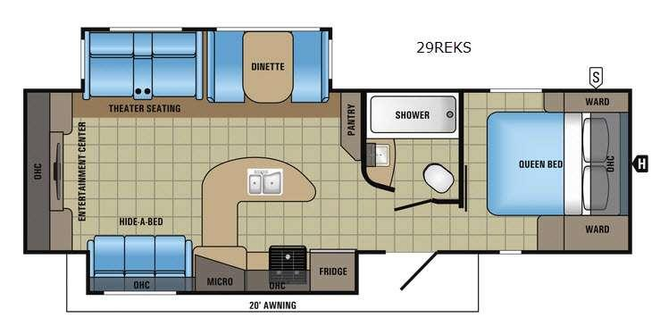 White Hawk 29REKS Floorplan Image
