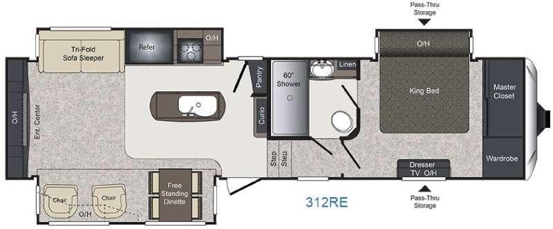 Laredo 312RE Floorplan Image