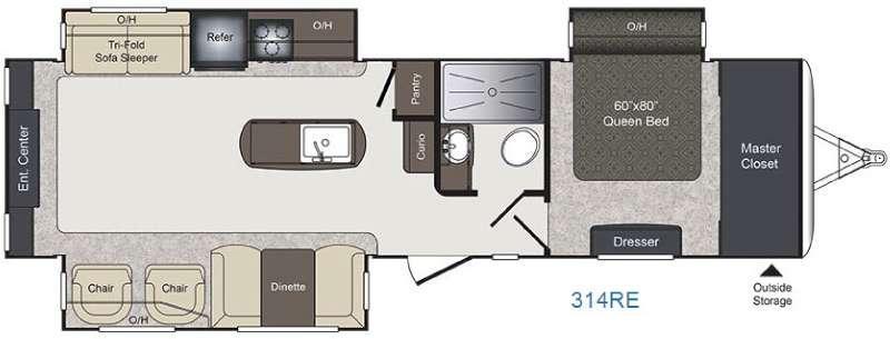 Laredo 314RE Floorplan Image