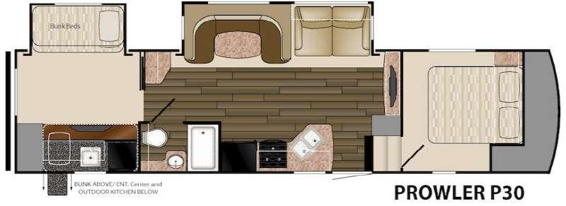 Prowler P30 Floorplan Image