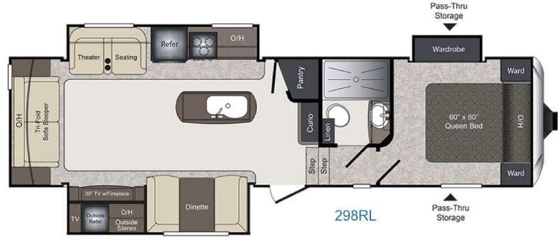 Laredo 298RL Floorplan Image