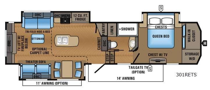 North Point 301RETS Floorplan Image