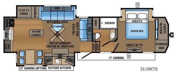 North Point 311RKTS Floorplan Image