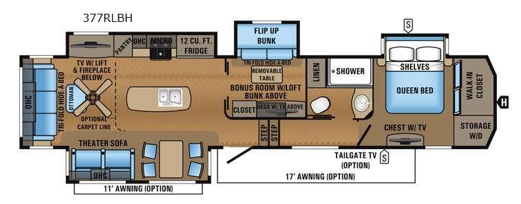 North Point 377RLBH Floorplan Image