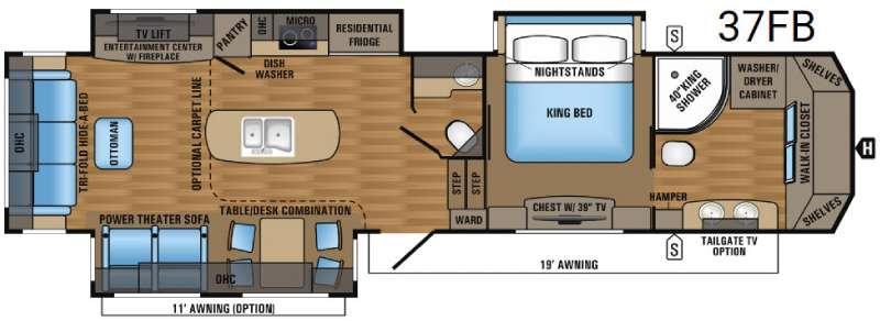 Designer 37FB Floorplan Image